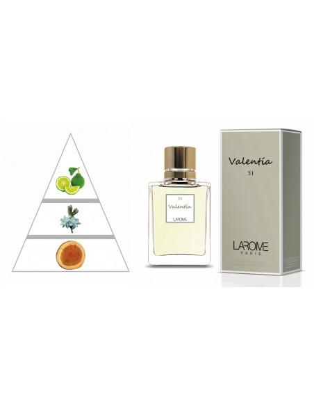 VALENTÍA by LAROME (51F) Perfume Femenino - Pirámide olfativa