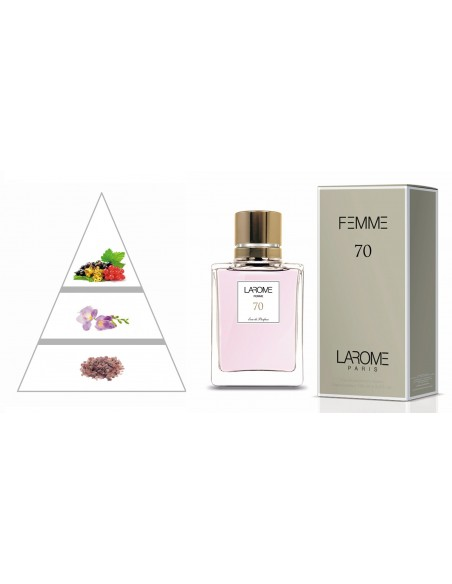 LAROME (70F) Perfume Femenino - Pirámide olfativa