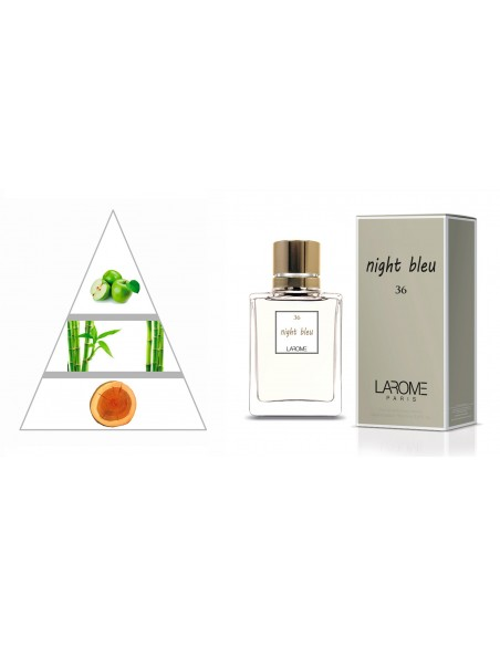 NIGHT BLEU by LAROME (36F) Perfume Femenino - Pirámide olfativa