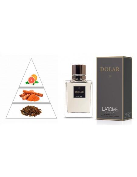 DOLAR by LAROME (25M) Profumo Maschile - Piramide olfattiva